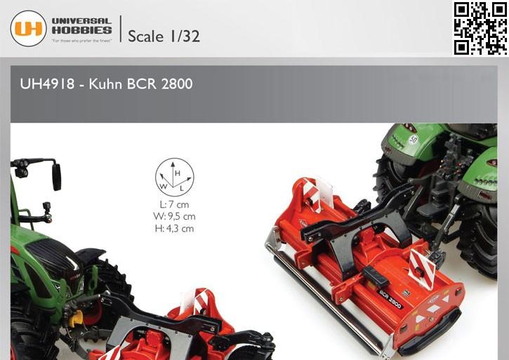 1:32 Universal Hobbies 4918 Kuhn BCR 2800