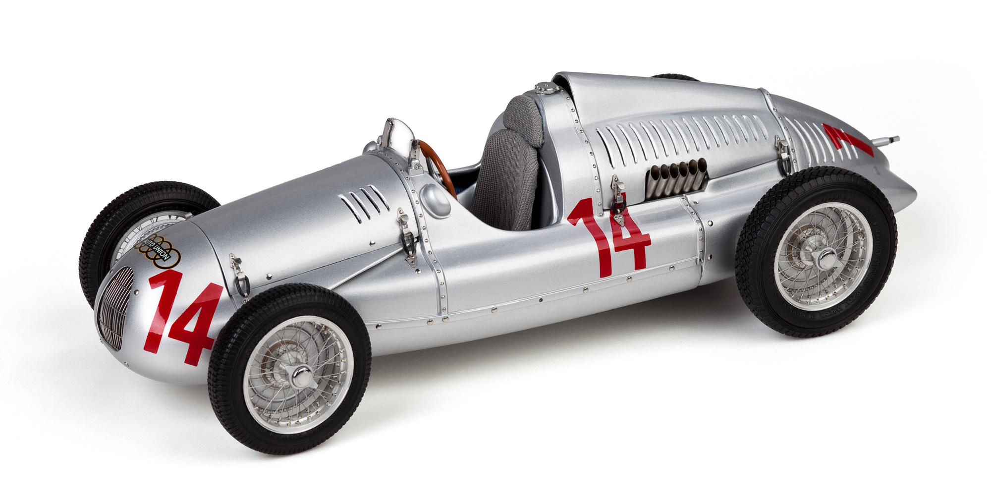 M-090 Auto Union Typ D 1938/39 GP Frankreich Nr 14, 1:18 CMC